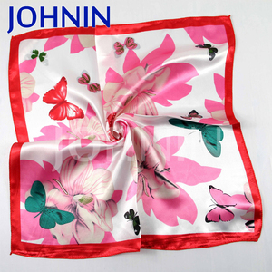 NO MOQ digital printing polyester satin silk scarf