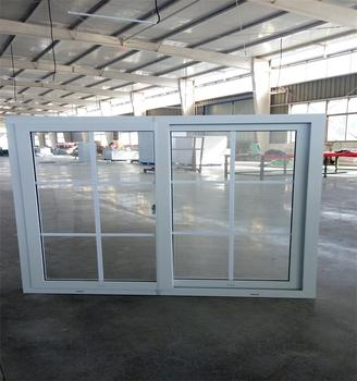 PVC double sliding windows for sale