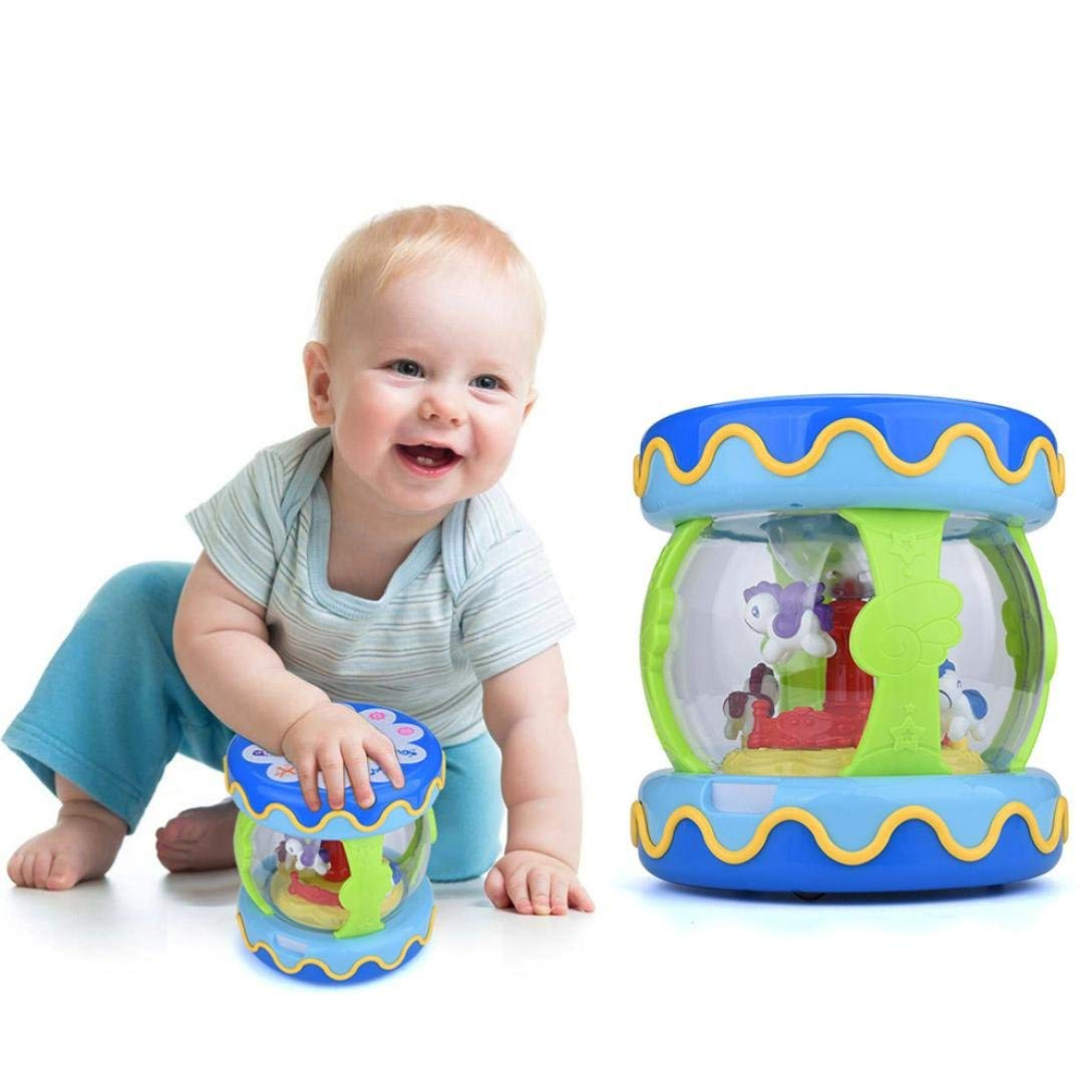 Joykith Early Learning Toys,Carousel Music Box, Merry-Go-Round Baby toy Music & Light Toy, Provides Mode 6 Styles Including Drums, Rhythm Tracks, Car Sounds, Baby Laughter, Animals, Musical Tones