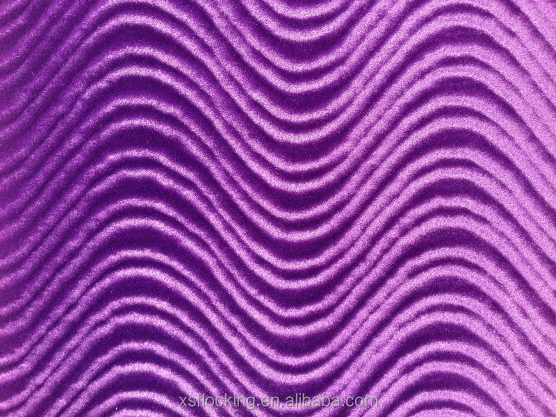 Spray flocking wave velvet <strong>fabric</strong>
