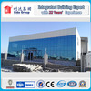 Modern style glass curtain wall prefab building with two floors