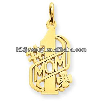 High quality gold plated number 1 mom charms western pendants for high quality gold plated number 1 mom charms western pendants for jewelry making aloadofball Image collections