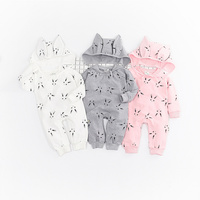 Wholesale New Arrival Toddler Outfit Newborn Baby Clothes Clothing Long Sleeve Romper With Hoodie