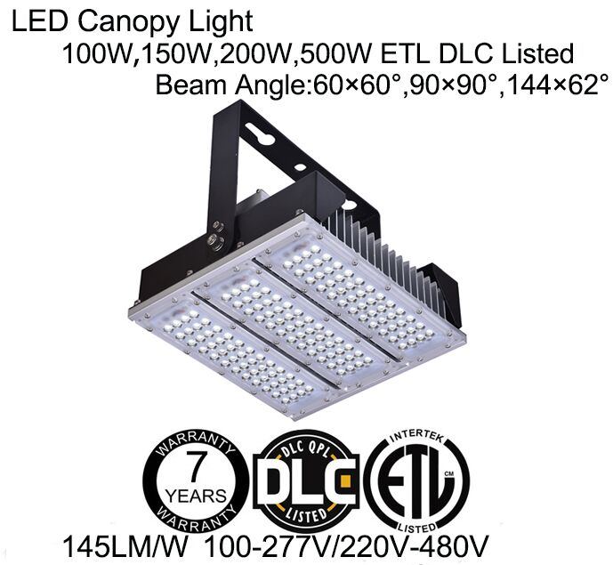 ETL DLC Module LED Gas Station Canopy Light 50W 100W 150W 200W
