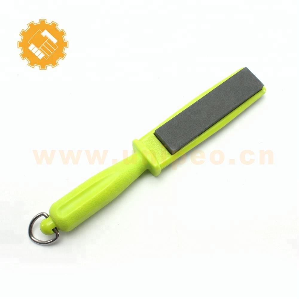 Handheld sharpener 2 sided kitchen knife sharpener stones with hole