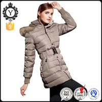 COUTUDI top European brands high quality winter coat plus size factory direct women khaki fur hoodie clothing