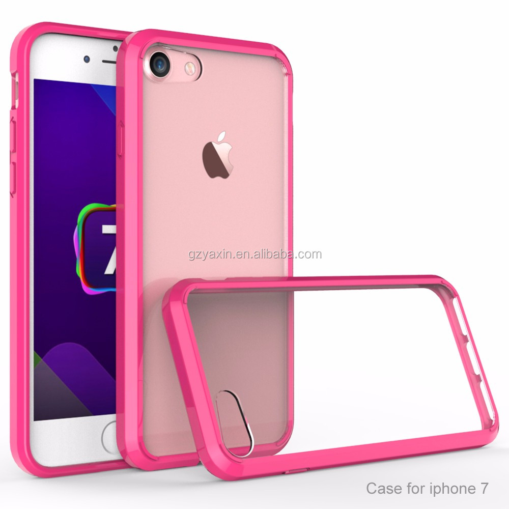 Yaxin New for iphone7 Mobile Phone Cover Shockproof Protective Clean Arylic Case for apply iphone7 7s