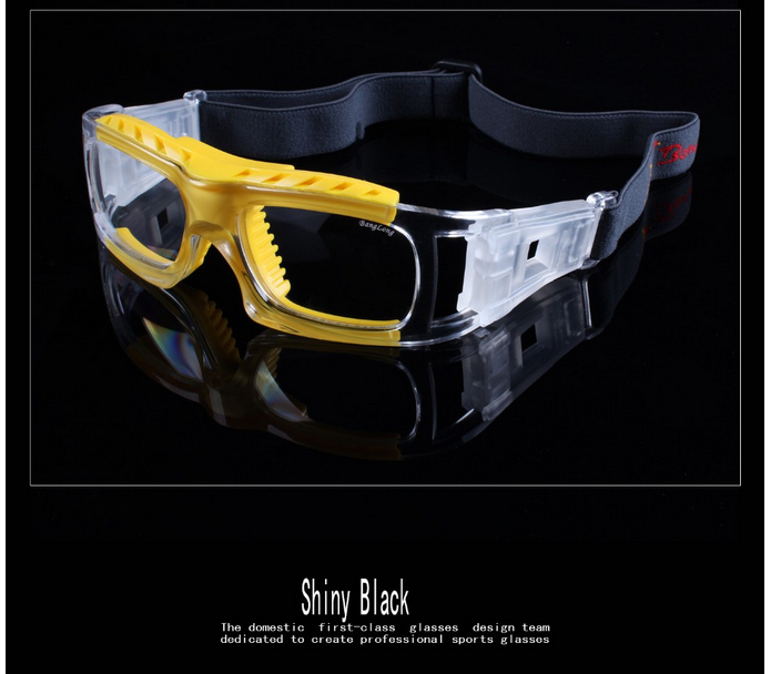 Crystal color frame clear football basketball eyewear goggles