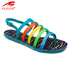 Outdoor summer beach fancy ladies PVC footwear women flat sandals
