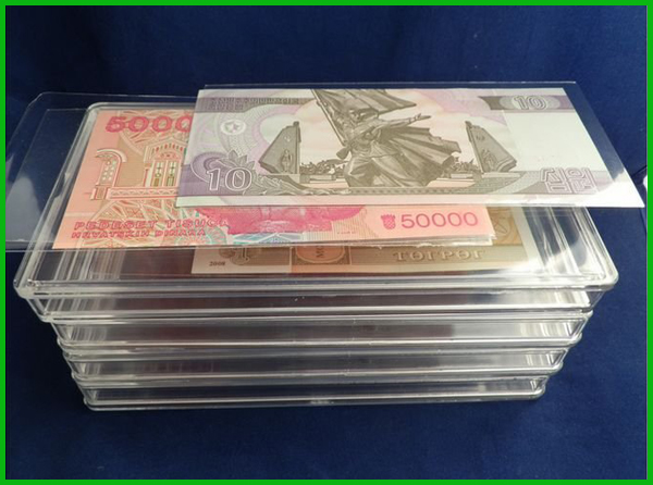 Acrylic Single Bank Note Frame Plastic Money Holder