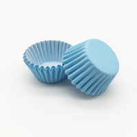 Blue Disposable Muffin Cake Liners Wrappers Baking Cupcake Paper Cups