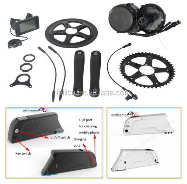 36v 250w bafang 8fun mid drive motor e bike kit with battery made in China