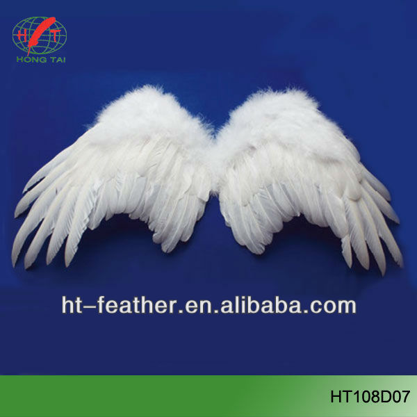 Venta al por mayor new products white feather alas del ángel