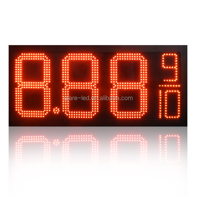 glareled tcp ip 7 segment led digital gas station signage fuel price display boards