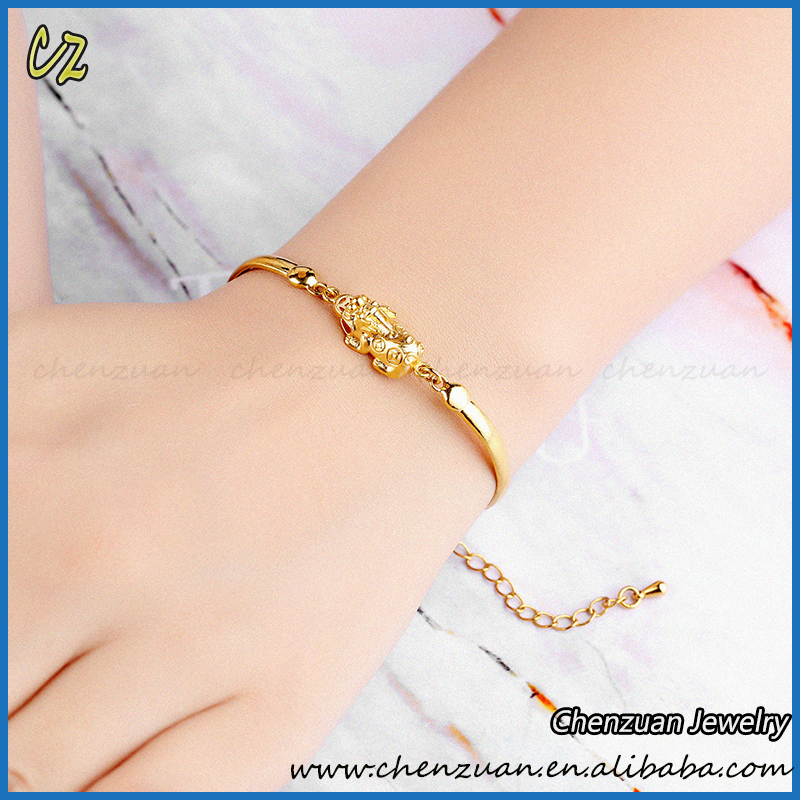 New Adjule Artificial Gold Chain Bracelet Jewelry 18k Thin For Wrist
