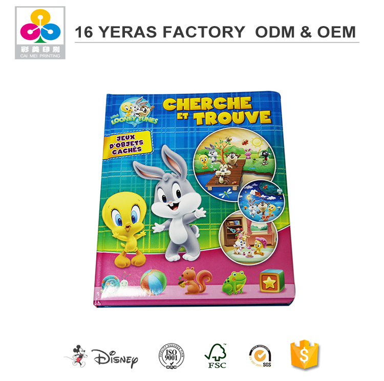 Professional Children Cardboard Coated One Side Paper Books Printing Houses