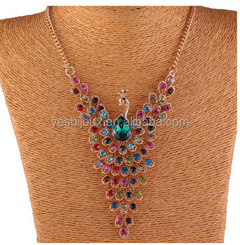 Delicate Peacock Full Diamond Necklace Best Wholesale Website Jewellery -  Buy Delicate Peacock Jewellery,Antique Jewellery,Full Diamond Necklace