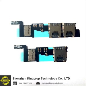 Original Tested For Samsung Galaxy Note 4 N9109W N9108V Dual SIM Card reader flex cable Memory SD Solt holder flex ribbon cable