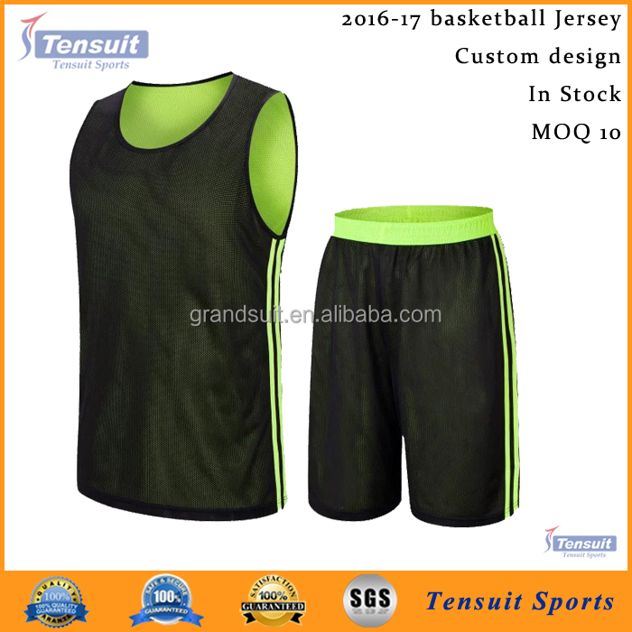 black and green reversible basketball jersey set latest design 2016 best quality basketball uniform dri fit basketball jersey