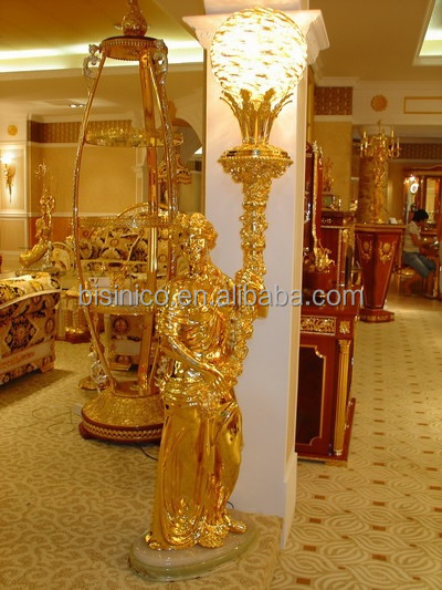 24k Gold Plated Brass Floor Lamp In Vase Shape,Nouveau Floor Light ...