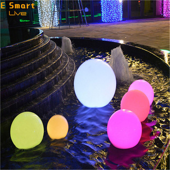 solar light balls luminous led stone lamp glow in the night stones waterproof rechargeable outdoor solar led stone ball light