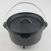 Cast Iron Dutch Oven With Feet 12QT