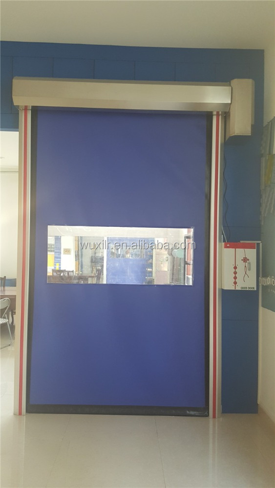 China Supplier Fast Moving Soft Curtain High Speed Industrial Door