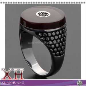 Cheap price factory direct selling black enamel cz men's ring