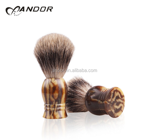 High quality resin handle badger shaving brush for men the art of shaving premium mens facial 2019
