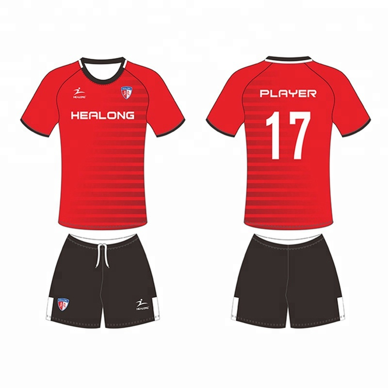 10fbf7076d4 New Design 100% Polyester Mens Soccer Jersey Sublimation Custom Soccer  Uniform