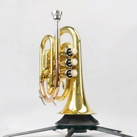 Chinese Professional OEM Popular Good Quality Newest Type Beginner Student Study Level Hot Sale Classical Concert Pocket Trumpet