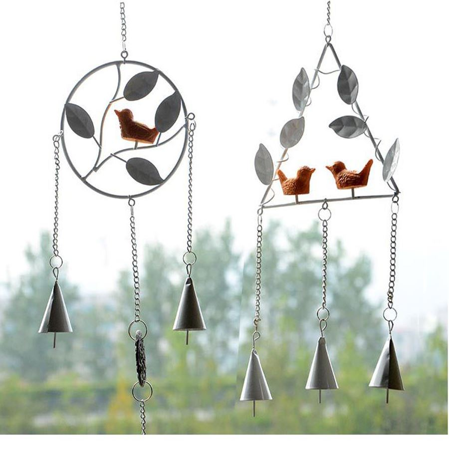 European-style metal bird WIND CHIMES ornaments home furnishings DOOR WINDOWS Iron ornaments crafts