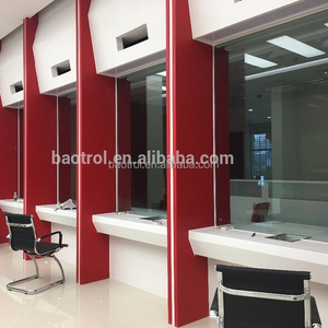 Office furniture customized size made bank front desk/check counter table