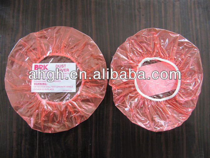 Disposable clear / red plastic bowl covers with good quality elastic band