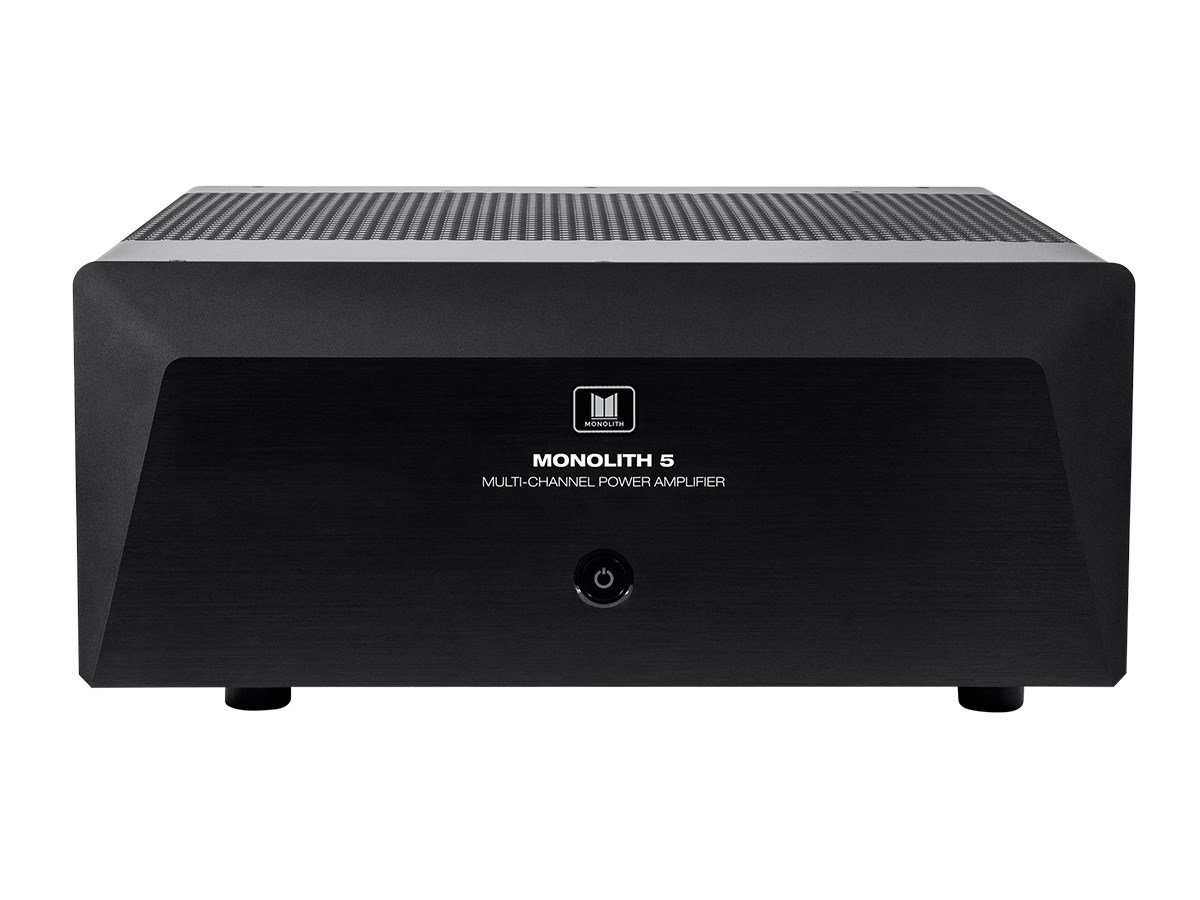 Monoprice Monolith Multi-Channel Power Amplifier - Black with 5x200 Watt Per Channel, XLR Inputs for Home Theater & Studio