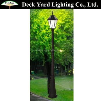 Casting Luxury Vintage European Style Solar Garden Lighting Pole Lights Led Light
