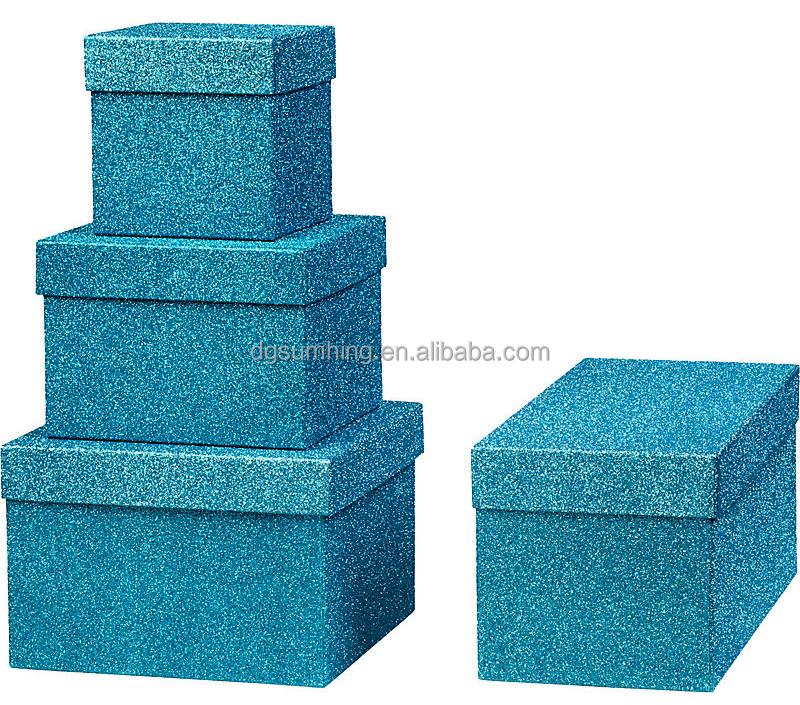 Wholesale Rigid Glitter Gift Boxes