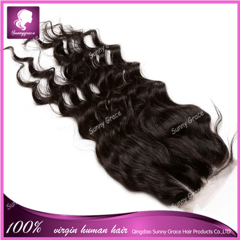 wholesale 8a grade aliexpress hair deep wave 5x5 lace closure gule with baby hair