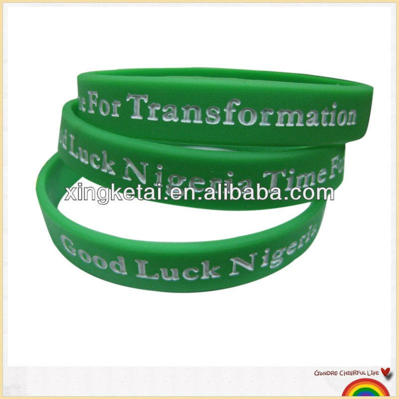 Wristbands Silicone Debossed Filled