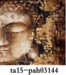 Buddha oil art painting on canvas,embossed canvas painting art