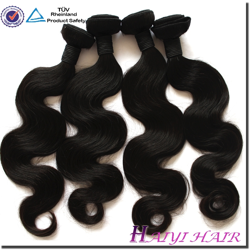Grade 5A 6A 7A Thick Ends wrap around human hair ponytail