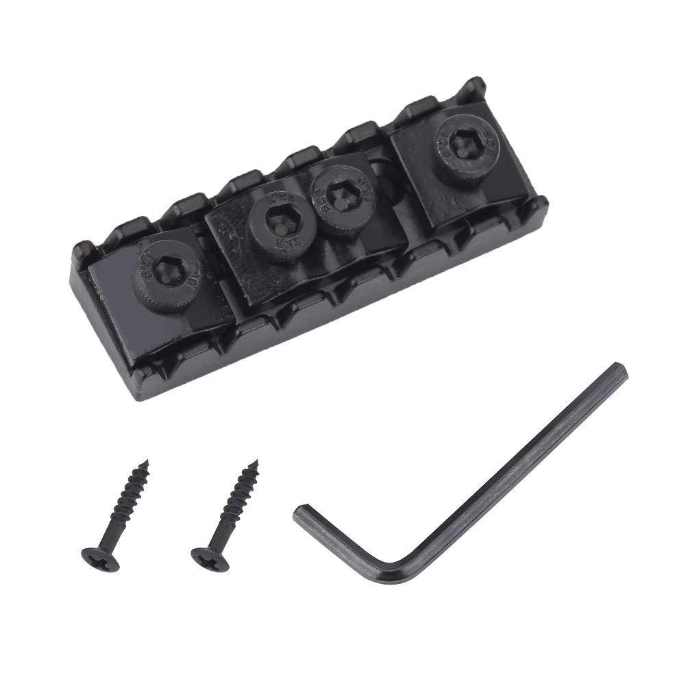 10 Set Electric Guitar Shim Adjustable Locking Nut 6 Sting Lock 42.5mm