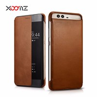 XOOMZ Premium Product Retro Genuine Leather Folio Phone Case for Huawei P10 P10 Plus