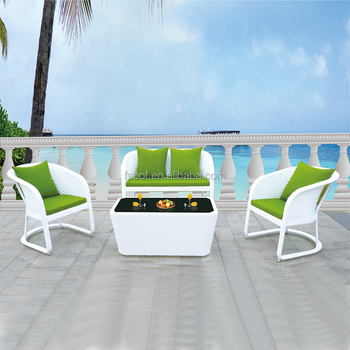 Saigon Sofa Garden Ridge Outdoor Furniture With White Rattan Color Green Cushion A5030 Buy Saigon Garden Furniture Fibreglass Garden