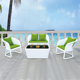 saigon sofa garden ridge outdoor furniture with white rattan color green cushion A5030