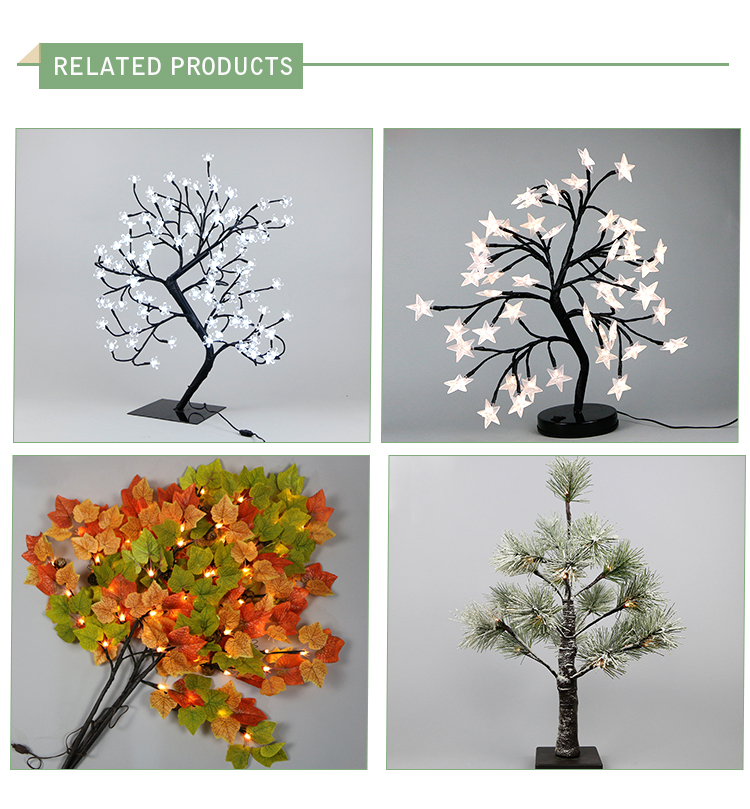 90 cm galho ramo de Natal home decor festival decoração tira branco quente luzes da árvore de palma de bétula