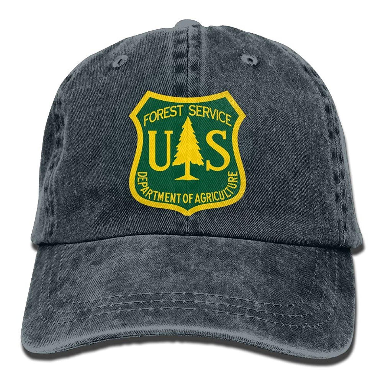 d722a87b34d Get Quotations · US Forest Service Flag Plain Adjustable Cowboy Cap Denim  Hat for Women and Men