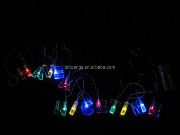 Hot Ing Letters Hy Nice Time Battery Operated Light Christmas Lights Holiday Decoration