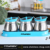 3Pcs Kitchen Stainless Steel  Seasoning Bottle  Kitchen Spice Storage Bottle  with Spoons and Tray