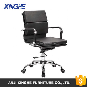 high back modern black leather manager office chair work staff chair